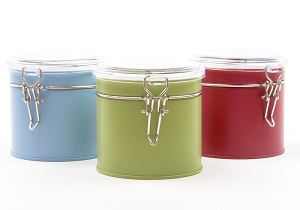 Tin With Latch | Multi Color