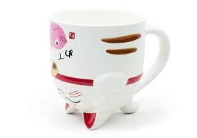 Upside Down Cat with Fish | Mug