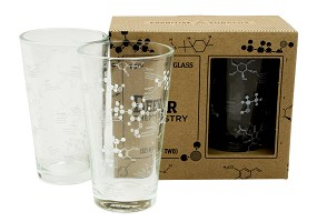Beer Chemistry Pint Glasses
