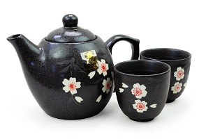 Blossoms on Black | Tea Set