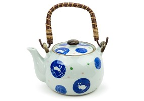 Bunny Dots | Tea Pot with Wooden Handle