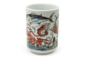 Oishi Sushi Fish | Japanese Ceramic Cup