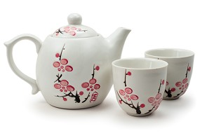 Cherry Blossom Tea Set | White