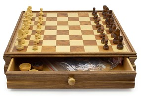 Wood Chess/Checker Set | Game
