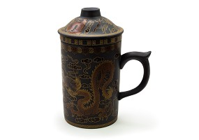 Black/Gold | Dragon Clay Mug