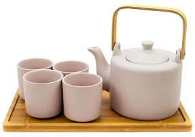 Multiple Colors | 28 oz Modern Style Teaset With Tray