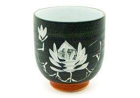 Carved Lotus | Japanese Ceramic Tumbler