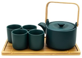 Jade Forest | 26 oz Modern Style Teaset With Tray