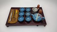 Gong Fu Cha Set - Full | Blue Flecks