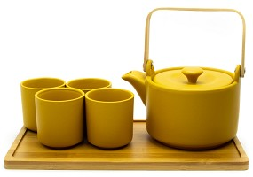 Mustard Yellow | 26 oz Modern Style Teaset With Tray