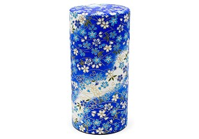 Blue and White Flowers | Tea Canister