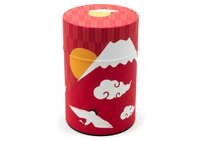 Red Mountain and Crane | Tea Canister