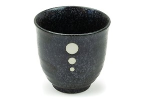 Satin Black+White Dots | Cup