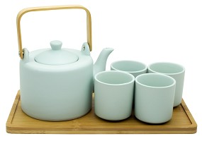 Modern Mint | Tea Set with Tray