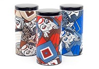 Kabuki Faces | Paper Wrapped Canister