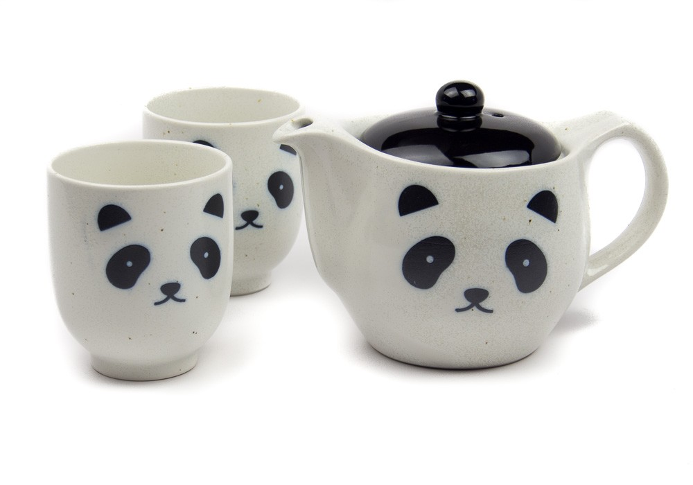 White Panda Tea Set