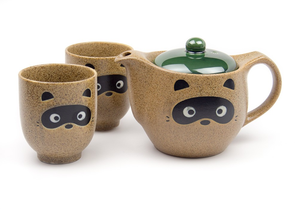 Raccoon Dog Tea Set