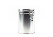 10oz Tin With Latch | Silver