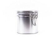 6oz Tin With Latch | Silver
