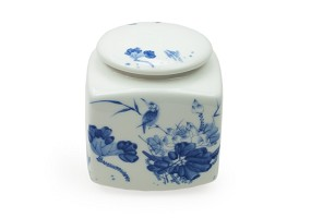 Bird and Flower | Porcelain Canister