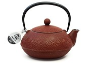 Cranberry Waves | 22oz Cast Iron Tetsubin Teapot