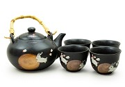 Bunny Through the Field | Tea Set with Bamboo Handle