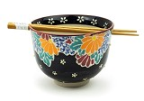 Bright on Black | Chopstick Bowl