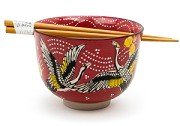 Red Cranes | Chopstick Bowl