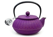 Purple Deco | 22oz Cast Iron Tetsubin Teapot