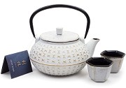 White Gold Hex | 20oz Cast Iron Tea Set