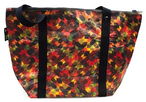 Red Geometric | Tyvek Tote Bag