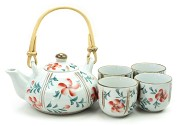 Orange Flower and Vine | Tea Set