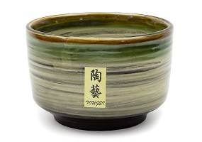 White with Earth | 16 oz Matcha Bowl