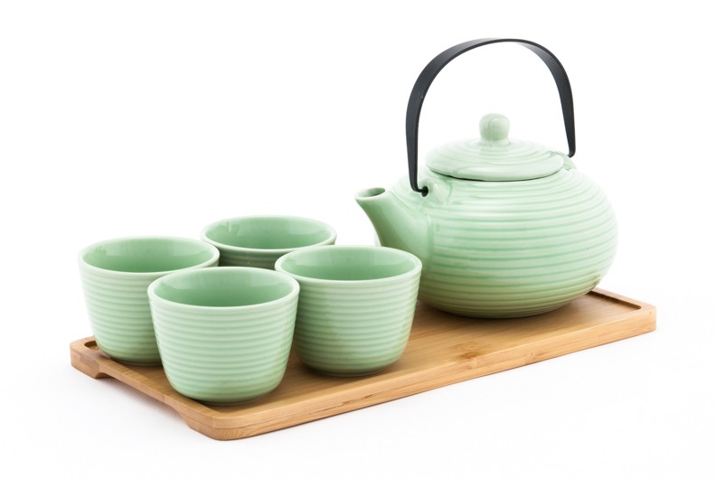 Multiple Colors | 27 oz Classic Style Teaset With Tray